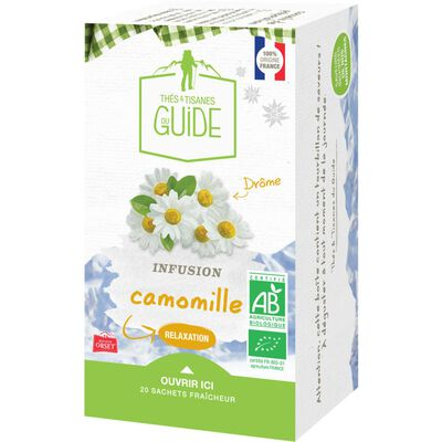 Infusion relaxation camomille bio TISANE DU GUIDE, x20