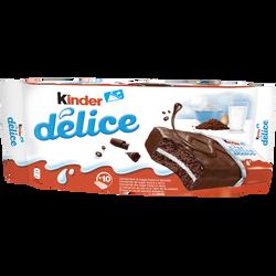 Barres chocolatées cacao KINDER T10, Délice pack x10, 420g