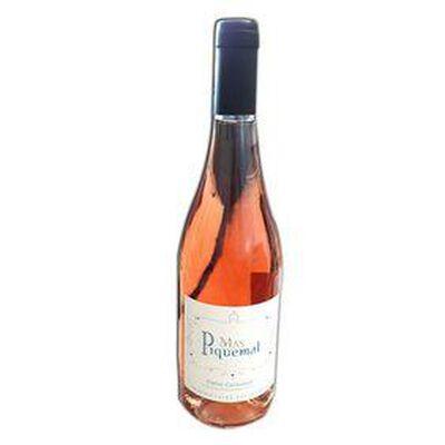 Vin Rosé MAS PIQUEMAL, igp Côtes Catalanes, bouteille de 75Cl