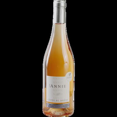 Côtes du Rhone rosé cuvée Annie AOP, bouteille de 75cl