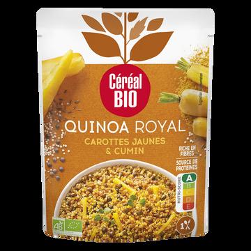 Céréal Bio Quinoa Royal Aux Carottes Jaunes Et Au Cumin Cereal Bio, Doy Pack De 220g