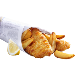 Fish & chips de colin d'Alaska, 550g