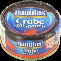 Crabe 30% pattes NAUTILUS, boîte de 105g