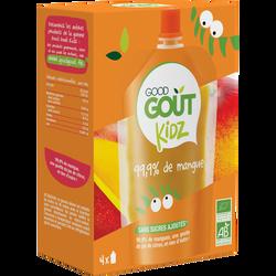 Gourde mangue Bio dès 3ans GOOD GOUT KIDZ, 4x90g