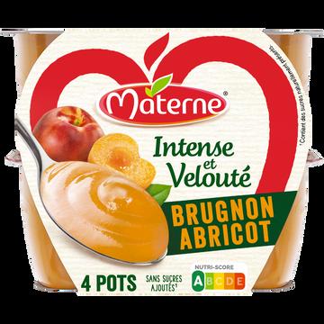 Materne Dess.frts Int.et Velouté Ssa Brugnon Abricot Materne 4x100g