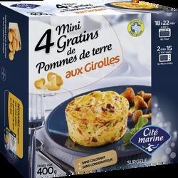 Mini gratins pommes de terre aux Girolles CITE MARINE, 4x100g