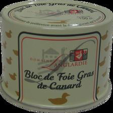 Bloc de foie gras de canard DOMAINE DE LANGLARDIE, 150g