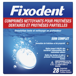 Comprimés nettoyant FIXODENT X28