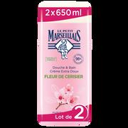 Le Petit Marseillais Gel Douche & Bain À La Fleur Cerisier Le Petit Marseillais, 2 X 650ml
