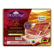 Epson Jambon Serrano 12 Mois Delpeyrat, 4 Grandes Tranches Soit 100g