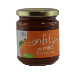 Confiture abricot miel de Franche-Comté, 250g