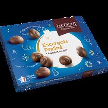 Jacquot Escargots En Chocolat Au Lait Au Praliné , 300g