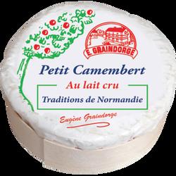 Petit camembert lait cru 23% de MG TRADITIONS NORMANDIE, 150g
