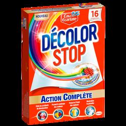 Lingettes décolor stop action complète EAU ECARLATE, boîte de 16 lingettes