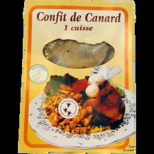 Cuisse de canard confite, SAVEUR D'AUGE, France, 1 pièce, barquette, 300g