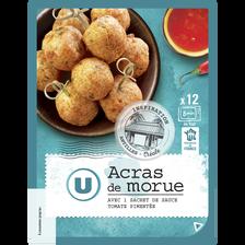 Acras à la morue + sauce tomate U, 12 pièces soit 200g