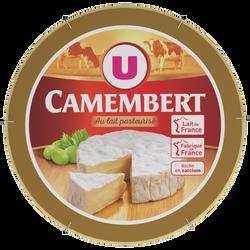 Camembert pasteurisé 21% de matière grasse U, boîte de 250g