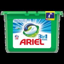 Ariel Lessive En Écodoses Liquides 3 En 1 Power Pods Alpine, , 16 Dosessoit 600g