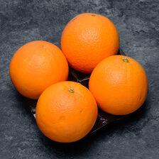 Orange Valencia late, BIO, calibre 5/6, catégorie 2, Afrique du Sud, barquette 4 fruits