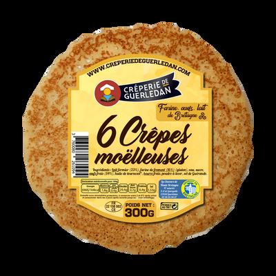 Crêpes moelleuses CREPERIE DE GUERLEDAN, x6 soit 300g