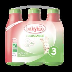 Lait croissance liquide BABYBIO 6x1l