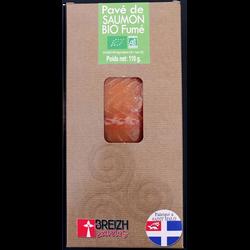 Pave de saumon fumé bio 1 pièce breizh saveurs, 110g