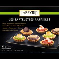 Mini tartelettes raffinées LABEYRIE,12 pièces, 165G