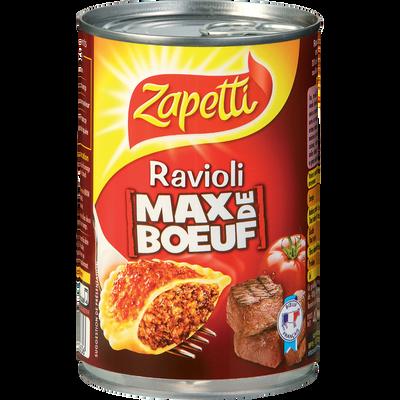 Ravioli Max de boeuf ZAPETTI, 400g
