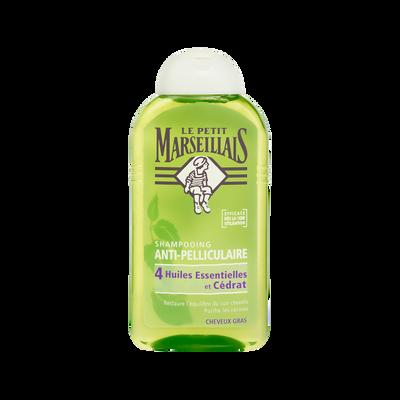 Shampooing antipelliculaire cheveux gras au cedrat LE PETIT MARSEILLAIS, 250ml