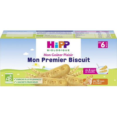 Mon premier biscuit dès 6 mois, Bio HIPP, boîte de 180g
