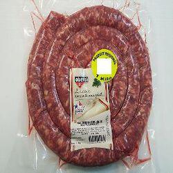 Saucisse fraîche supérieur, OBERTI, 1kg