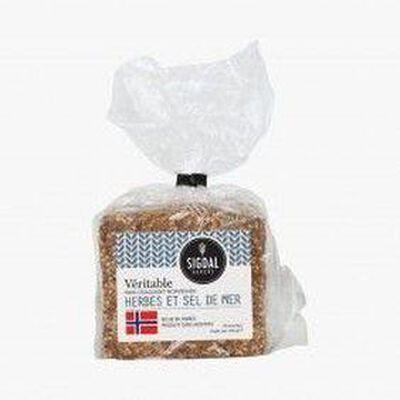 Véritable pain craquant norvégien herbes et sel de mer SIGDAL BAKERI,220g