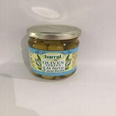OLIVES VERTES à la farce d'anchois BARRAL