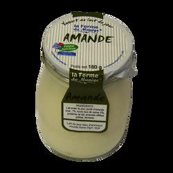 Yaourt entier au lait du jour amande LA FERME DU MANEGE, 180g