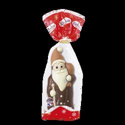 Moulage Père Noël en chocolat au lait décoré ROHAN, 125g