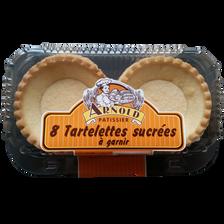 Tartelettes sucrées à garnir, x8, 215g