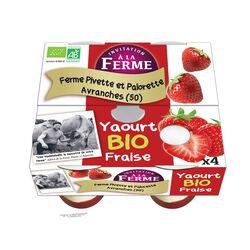 YAOURT A LA FRAISE X4