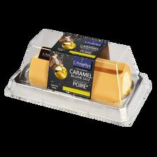 L'Angelys Bûche Glacée Caramel Beurre Salé Sorbet Poire , 500g