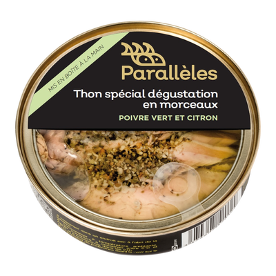 Thon spécial dégustation mcx poivre vert & citron PARALLELES, 160g