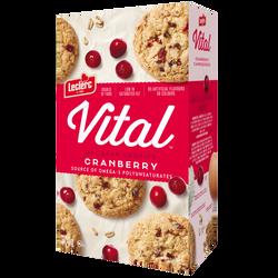 Biscuits aux canneberges VITAL, paquet de 300g