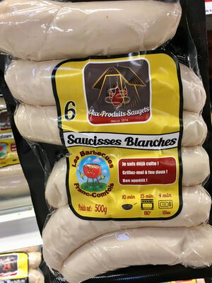 Saucisses blanches x6 SAUGETS