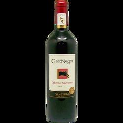 Vin rouge AOP du Chili Cabernet Sauvignon San Pedro gato negro ble, 75cl