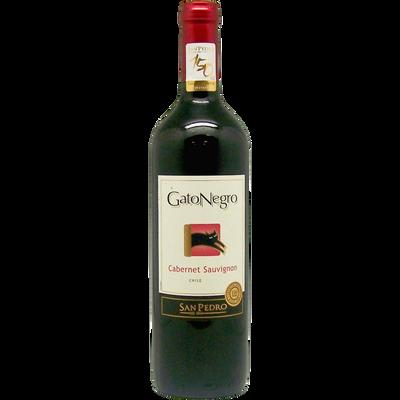 Vin rouge AOP du Chili Cabernet Sauvignon San Pedro gato negro ble75cl