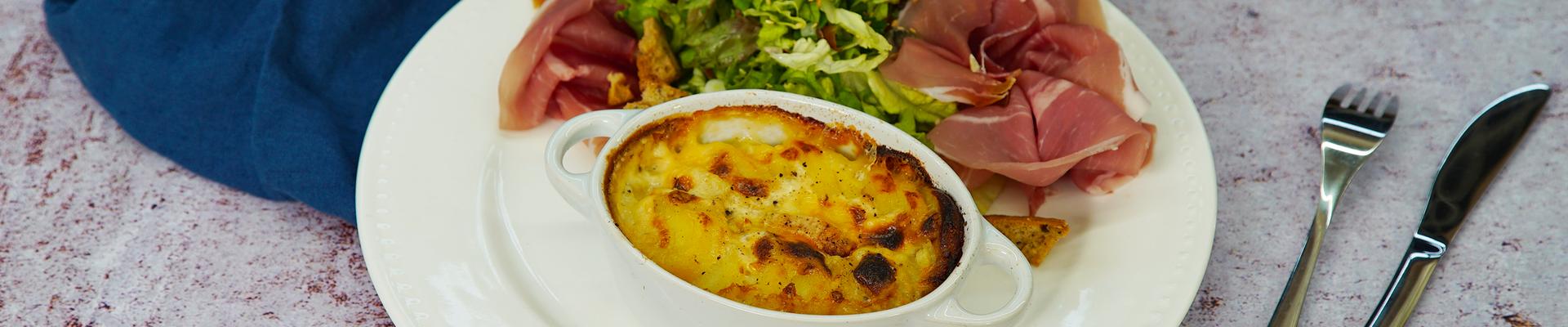 Cassolette de pommes de terre Laurette au Maroilles