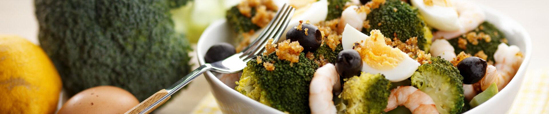 Brocolis aux crevettes