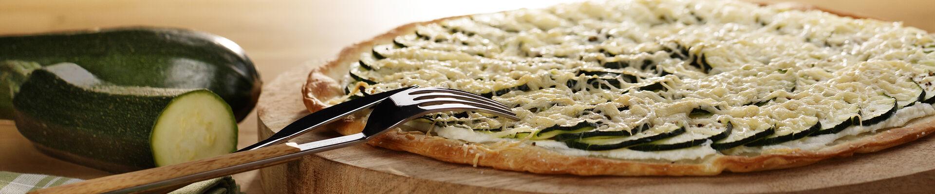 Pizza blanche à la courgette