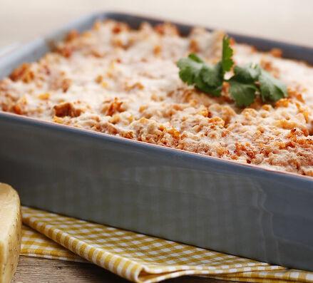 Gratin de riz au thon et à la tomate