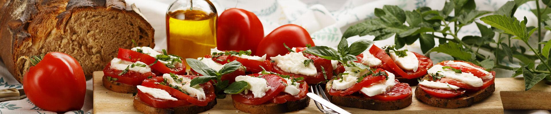 Pain perdu au pesto et à la tomate