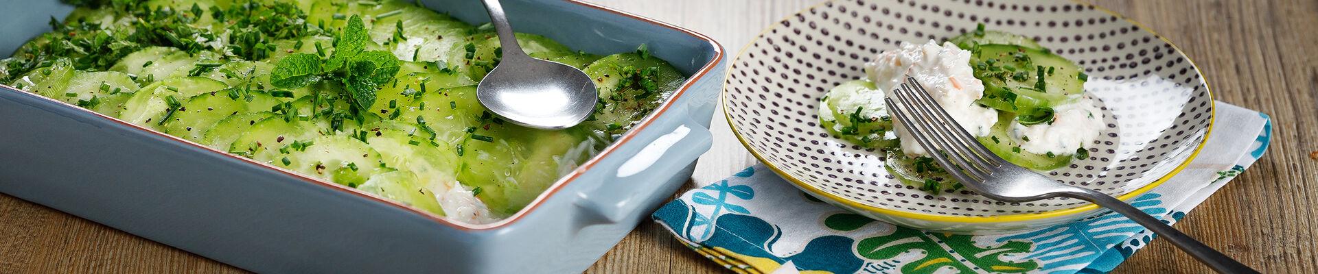 Tian de concombre au surimi