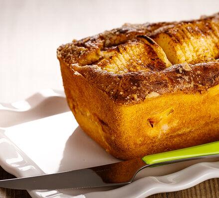 Cake aux pommes debout